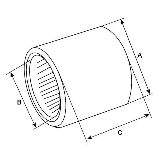 HC CARGO Roulement aiguille avant + joint torique-140904